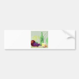 Fruit Bottle Cheese Art Bumper Sticker