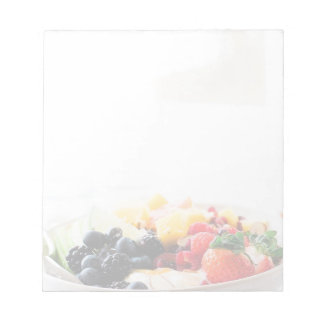 Fruit Bowl Breakfast Food Snack Nutrition Notepads
