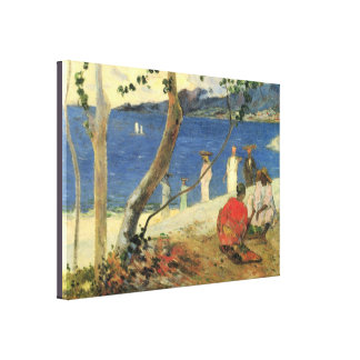 Fruit Carriers at the Cove Turin by Paul Gauguin Canvas Print
