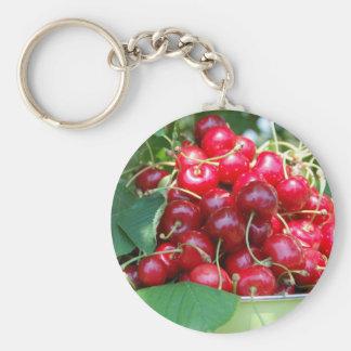 Fruit Cherries Sweet Dessert Destiny Gifts Basic Round Button Keychain