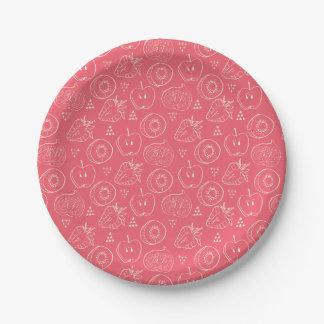 Fruit Cut in Half Pattern Paper Plate
