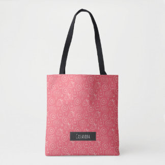 Fruit Cut in Half Pattern with Your Name Tote Bag