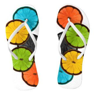 Fruit discs flip flops