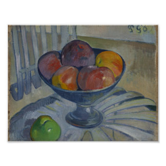 Fruit Dish on a Garden Chair , Paul Gauguin (Franc Poster
