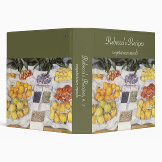 Fruit Displayed on a Stand by Gustave Caillebotte 3 Ring Binders