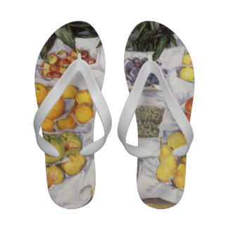Fruit Displayed on a Stand by Gustave Caillebotte Sandals