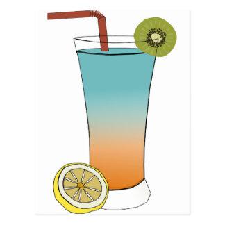Fruit Drink Sweet Dessert Destiny Food Kiwi Lemon Postcard
