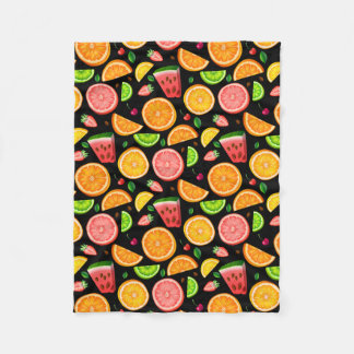 Fruit Fancy Fleece Blanket