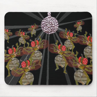 Fruit Flies Dancing Under The Disco Ball Mouse Pad