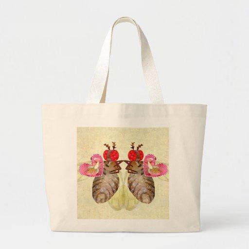 Fruit Flies Exchange Banana Valentines Tote Bags