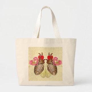 Fruit Flies Exchange Banana Valentines Jumbo Tote Bag
