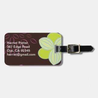 Fruit Flower Fine Cute Girly Retro Floral Luggage Tag
