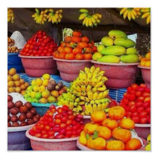 FRUIT for THOUGHT healthy life style living initia Poster