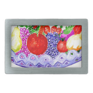 Fruit in Vase Art Belt Buckle