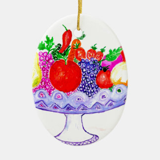 Fruit in Vase Art Ceramic Ornament