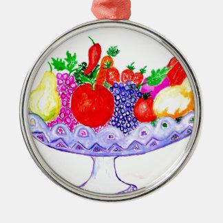Fruit in Vase Art Metal Ornament