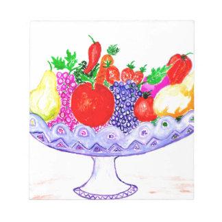 Fruit in Vase Art Notepad