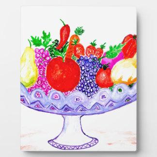 Fruit in Vase Art Plaque
