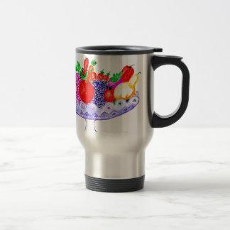 Fruit in Vase Art Travel Mug