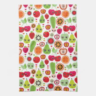 fruit kids illustration apple kitchen towel