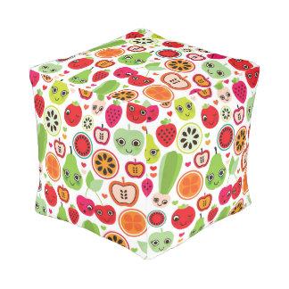 fruit kids illustration apple pouf