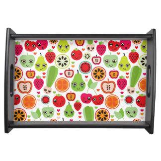 fruit kids illustration apple serving tray