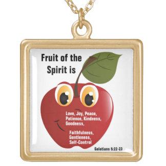 Fruit - Large gold finish necklace