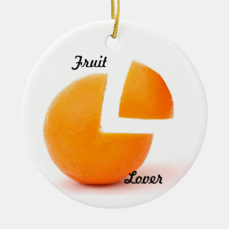 Fruit lover round ornament