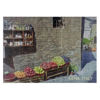 Fruit Market in Quaint Siena, Italy, Streetscape Boards