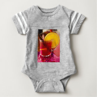 Fruit mulled wine with cinnamon and orange baby bodysuit