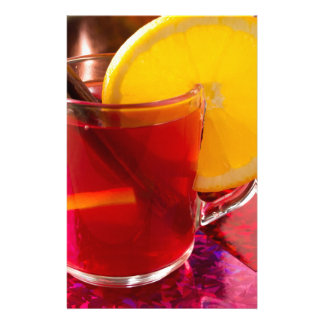 Fruit mulled wine with cinnamon and orange stationery