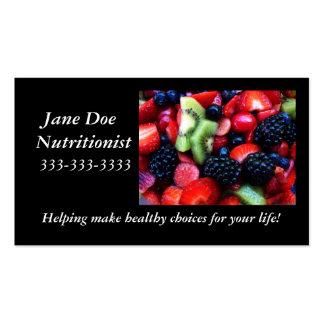 Fruit nutrition card. business cards