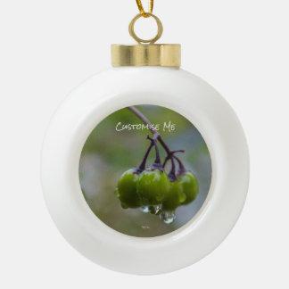 Fruit of Clarity Ceramic Ball Christmas Ornament