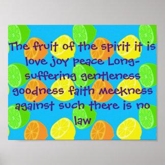 Fruit of spirit is love joy ♡ Galatians 5:22-23 Poster