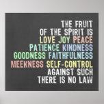 Fruit of the Spirit Chalkboard Look Bible Verse Poster