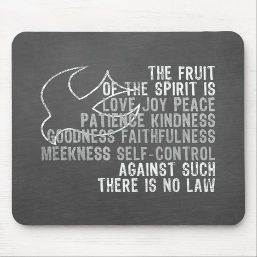 Fruit of the Spirit Chalkboard Look with Dove Mousepads