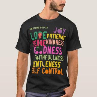 Fruit of the Spirit Christian Uplifting Bible Pun T-Shirt