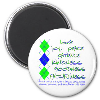 fruit of the spirit green and blue magnet