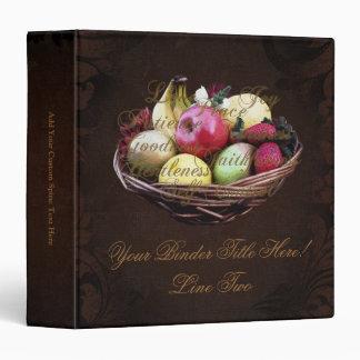 Fruit of the Spirit, Painted Brown Basket 3 Ring Binder