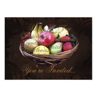 Fruit of the Spirit, Painted Brown Basket Card