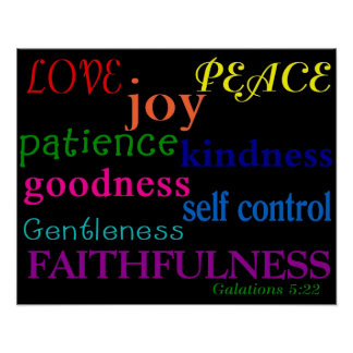 Fruit of the Spirit Poster Print Bible Scripture