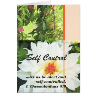 Fruit of the Spirit Self Control Greeting Card