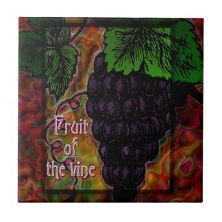 Fruit of the Vine Decorative Ceramic Tile