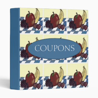 Fruit on a Blue and White Tablecloth Coupon Binder