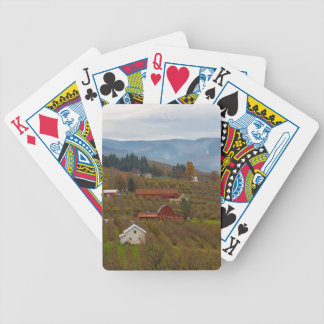 Fruit Orchard Farmland in Hood River Oregon Bicycle Playing Cards