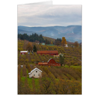Fruit Orchard Farmland in Hood River Oregon Card