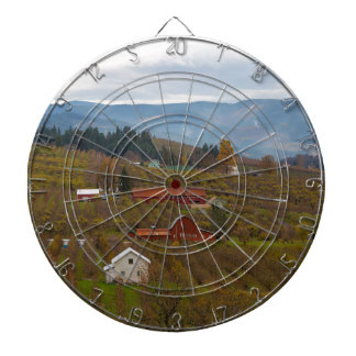 Fruit Orchard Farmland in Hood River Oregon Dartboard