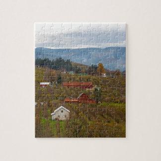 Fruit Orchard Farmland in Hood River Oregon Jigsaw Puzzle