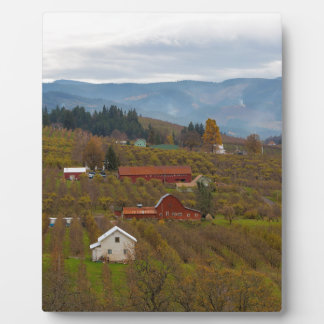 Fruit Orchard Farmland in Hood River Oregon Plaque