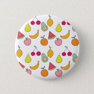 fruit pattern 2 inch round button